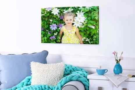 Photo Gifts - Personalised Canvas in Choice of Sizes - Save 77%