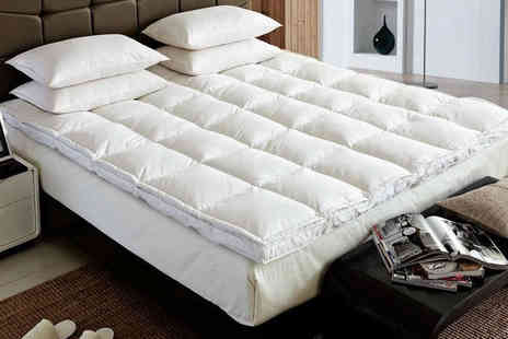 Groundlevel - Duck feather and down mattress topper choose from four sizes - Save 75%