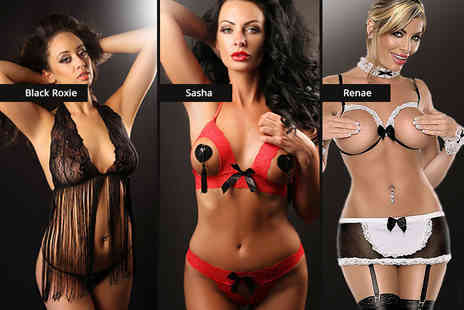 Who Runs the World - Two piece or five piece lingerie set choose from four styles - Save 73%
