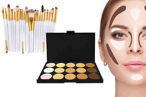 Forever Cosmetics - 35 piece contour makeup palette and brush set - Save 92%