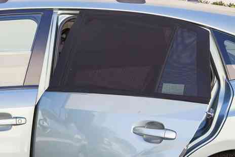 Groupon Goods Global GmbH - One or Two Two Piece Universal Car Window Mesh Sunshade Screen Sets - Save 73%