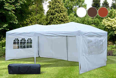 FDS Corporation - 3 x 6 metre waterproof party marquee with four walls - Save 63%