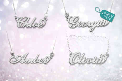 Optima Manufacturing Jewellers - Sterling silver personalised name necklace - Save 79%