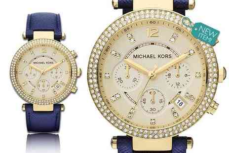 Gray Kingdom - Michael Kors ladies Parker watch with champagne dial, with a limited number available - Save 57%