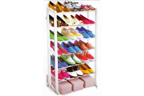 Ckent - Seven tier shoe rack that holds 21 pairs - Save 56%