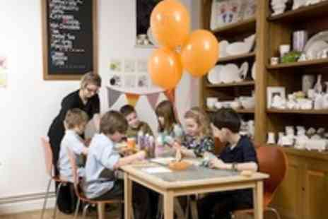 All Fired Up Ceramics Cafe - Birthday party package for 8 children - Save 50%