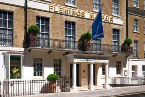 Flemings Mayfair Hotel - Traditional or Champagne Afternoon Tea For two - Save 50%