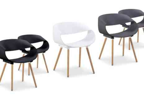 Groupon Goods Global GmbH - Two Zenata Dining Chairs With Free Delivery - Save 0%