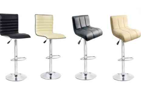 Groupon Goods Global GmbH - Two or Four Wave or Sunset Bar Stools With Free Delivery - Save 74%
