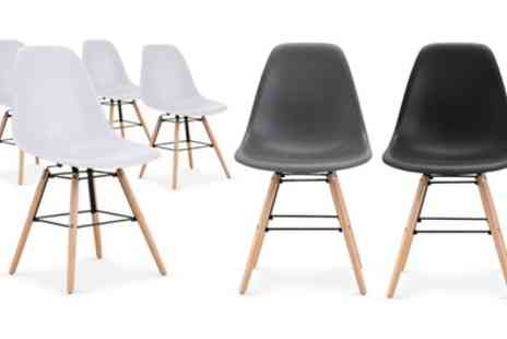 Groupon Goods Global GmbH - Four Lisa Dining Chairs With Free Delivery - Save 16%