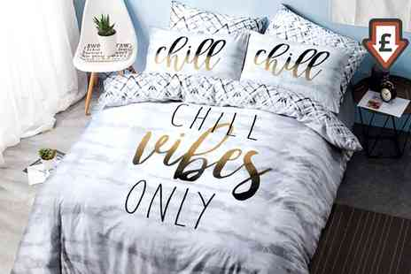 Groupon Goods Global GmbH - Pieridae Summer Slogan Duvet Cover Set - Save 71%