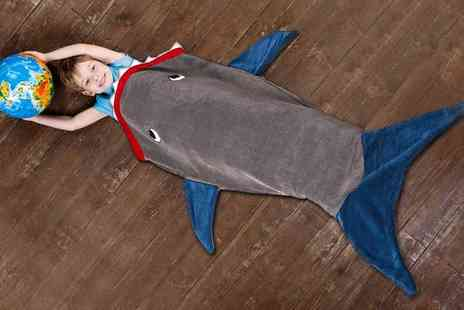 Groupon Goods Global GmbH - One, Two or Three Kids Shark Blankets in Choice of Colour - Save 80%