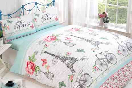 Groupon Goods Global GmbH - Four Piece Parisienne Chic Bed Set in Choice of Design and Size - Save 57%