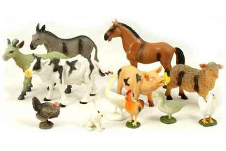 Groupon Goods Global GmbH - 12 Piece Peterkin Set of Farm Animals - Save 67%