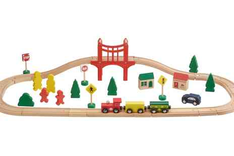 Groupon Goods Global GmbH - My Play 40 Piece Wooden Train Set - Save 53%