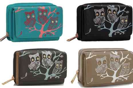 Groupon Goods Global GmbH - Owls in Tree Zipped Purse - Save 80%