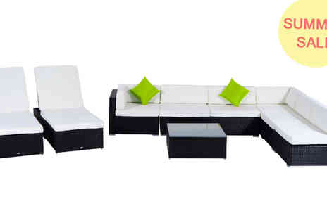 Mhstar - Outsunny 9Pc Outdoor Rattan Sofa Set - Save 72%