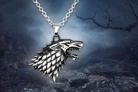 Toy Meets World - Stark inspired dire wolf pendant - Save 82%