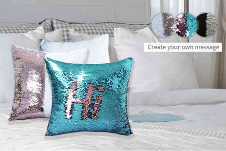 Treats on Trend - Magic colour changing sequin cushion cover choose from three colours - Save 67%