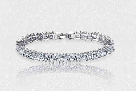 Your Ideal Gift - Emerald cut crystal tennis bracelet - Save 86%