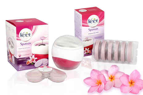 Ckent - Veet spa stripless wax warming kit or include six extra refills - Save 47%
