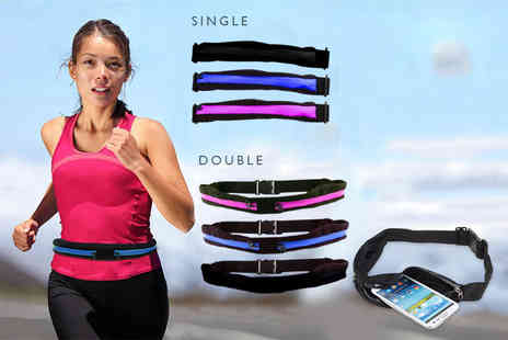 Snap One Up - Single or double zip pocket smartphone running belt - Save 77%