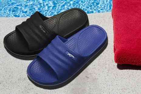 MY UL - Pair of mens sliders choose from seven sizes and two colours - Save 64%