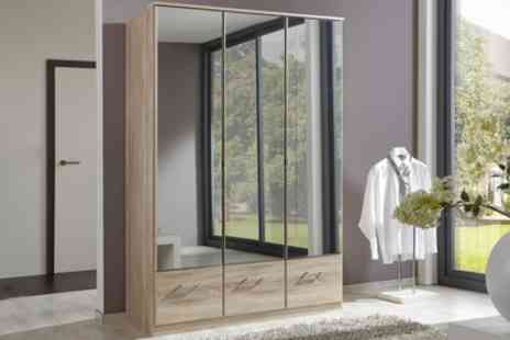 Groupon Goods Global GmbH - Wimex Imago Mirrored Wardrobes in a Choice of Sizes and Colours With Free Delivery - Save 0%