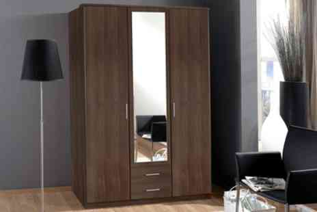 Groupon Goods Global GmbH - Wimex Osaka Two, Three or Four Door Wardrobes in White or Walnut with Free Delivery - Save 0%