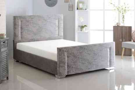 Groupon Goods Global GmbH - Tulip Bed Frame with an Optional Mattress - Save 65%