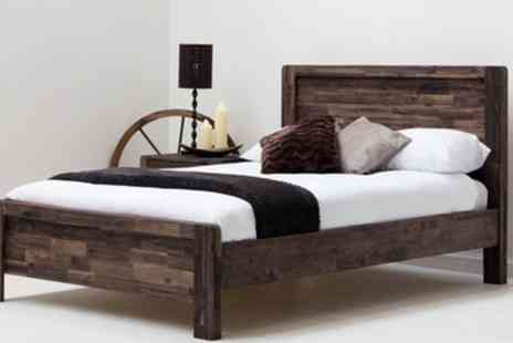 Groupon Goods Global GmbH - Chester Wooden Bed Frame with Optional Mattress Include Free Delivery - Save 47%