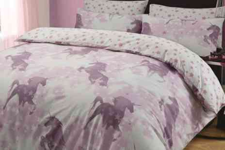 Groupon Goods Global GmbH - Unicorn Duvet Cover Set in Choice of Design and Size - Save 69%