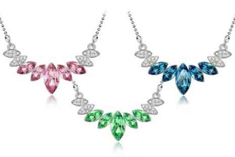 Groupon Goods Global GmbH - Simulated Sapphire Statement Necklace - Save 88%