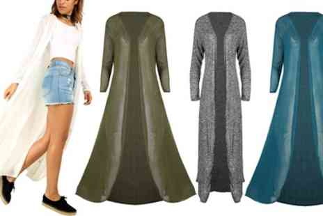 Groupon Goods Global GmbH - Be Jealous Fine Knit Maxi Cardigans - Save 0%