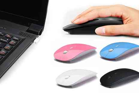 Groupon Goods Global GmbH - Thin Wireless Mouse - Save 73%