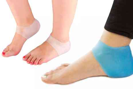 Groupon Goods Global GmbH - One, Two or Three Packs of Silicone Gel Heel Ankle Sleeves in Choice of Colour - Save 70%
