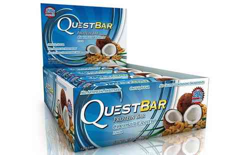Groupon Goods Global GmbH - 12, 24 or 36 Quest Coconut Cashew Bars 60g - Save 34%