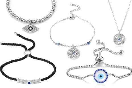 Groupon Goods Global GmbH - Philip Jones Evil Eye Jewellery Collection - Save 86%