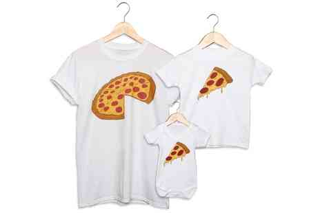 Groupon Goods Global GmbH - Art Hustle Pizza or Slice Father and Baby Matching Outfits - Save 33%