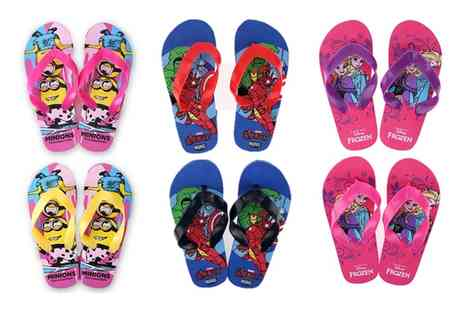 Groupon Goods Global GmbH - Two Pack of Kids Character Flip Flops - Save 0%