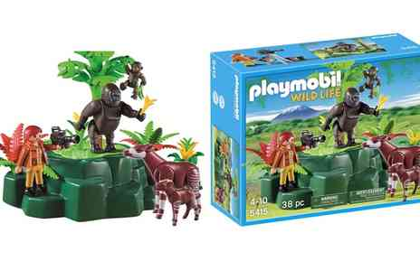 Groupon Goods Global GmbH - Playmobil Wildlife Gorillas, Okapis and Filmmaker Set - Save 61%
