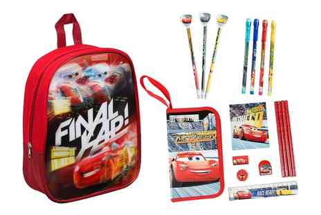 Groupon Goods Global GmbH - Cars Three Stationery Filled Backpack Bundle - Save 0%