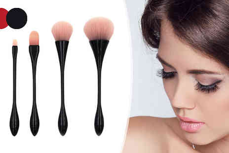 Black Sheep - 5 Piece Make Up Brush Set Choose from 2 Colours - Save 50%