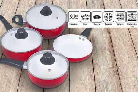 Vida XL - Seven piece induction ceramic pan set - Save 52%