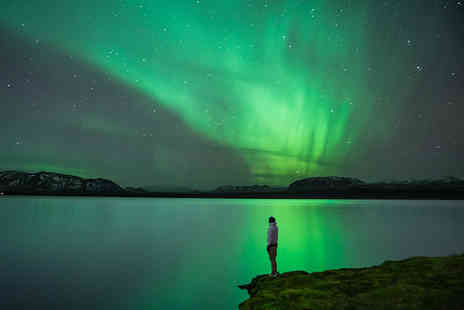 Super Escapes Travel - Two night Reykjavik, Iceland adventure with flights and optional Northern Lights tour, call to book alternative dates - Save 43%