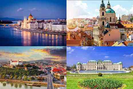 Crystal Travel - Six night Prague, Vienna and Bratislava break with flights and coach transfers between cities or  eights nights with Budapest included - Save 29%