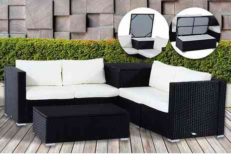 Mhstar - Six piece luxury rattan corner sofa set with storage - Save 74%
