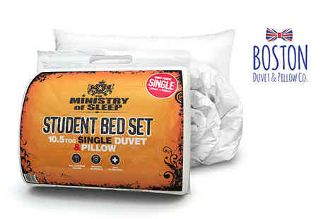 Boston Duvet & Pillow - Single duvet and pillow set - Save 53%