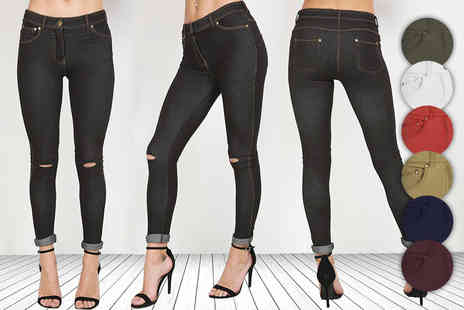 Be Jealous - Pair of ripped zip up jeggings - Save 67%