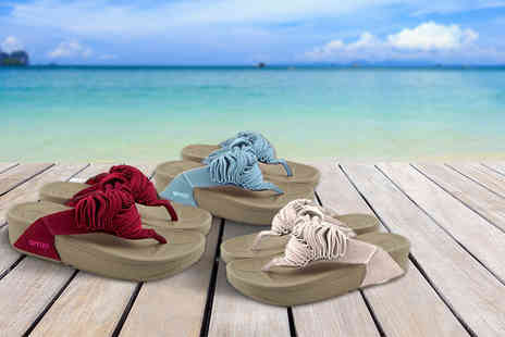 Toy Meets World - Pair of toning flip flops choose from three colours - Save 78%